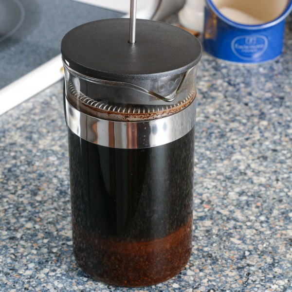 Cold Brewed Coffee Using A French Press