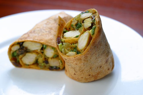 w20 curried chicken wrap indian chicken curry wrap curried chicken ...