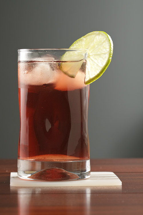 Jamaica Iced tea, made with the infusion of the hibiscus flower